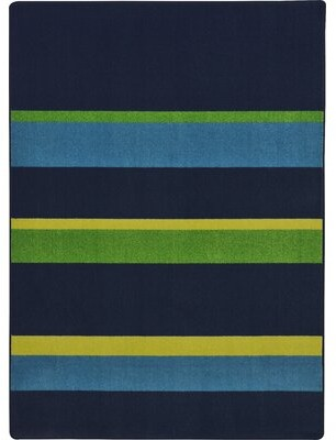 "Joy Carpets Straight and Narrow Tufted Black Rug Rug Size: Rectangle 7'8"" x 10'9"""