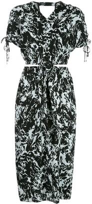 Proenza Schouler White Label Shadow print cut-out midi dress