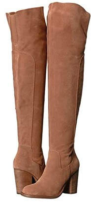 Kelsi Dagger Brooklyn Logan Over the Knee Boot (Warm Grey) Women's Shoes