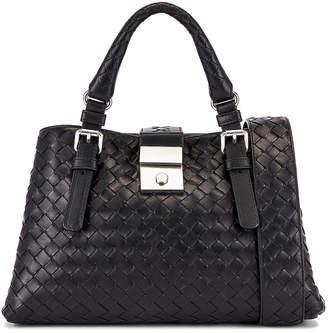 Bottega Veneta Woven Tote Crossbody Bag in Black & Silver | FWRD