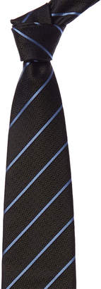 Ermenegildo Zegna Green & Blue Stripe Silk Tie
