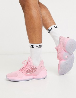 adidas Basketball x Harden vol 4 sneakers in pink