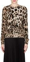 Saint Laurent Women's Leopard-Print Mohair-Blend Sweater