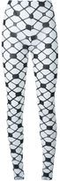 Kokon To Zai fishnet print leggings - women - Rayon - S