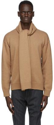 Dolce & Gabbana Tan Scarf Cashmere Sweater