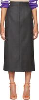 Calvin Klein Grey Check Pencil Skirt