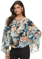 JLO by Jennifer Lopez Women's Ruffle Chiffon Top