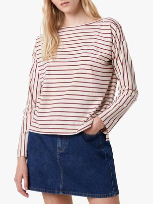 French Connection Rosana Tim Tim Striped Cotton T-Shirt