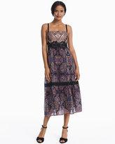 White House Black Market Lady Jane Silk Strapless Printed Lace Dress