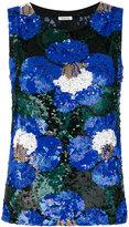 P.A.R.O.S.H. floral sequinned tank - women - Nylon/Spandex/Elastane/PVC - S