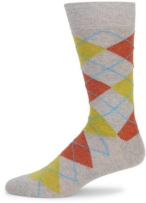 Saks Fifth Avenue Argyle Crew Socks