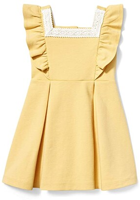 Janie and Jack Ponte Dress (Toddler/Little Kids/Big Kids) (Yellow) Girl's Clothing