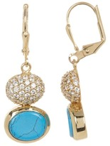 Cole Haan Crystal Accented Double Drop Earrings