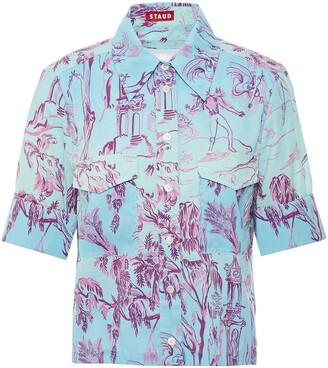 STAUD Degrade Printed Shell Shirt