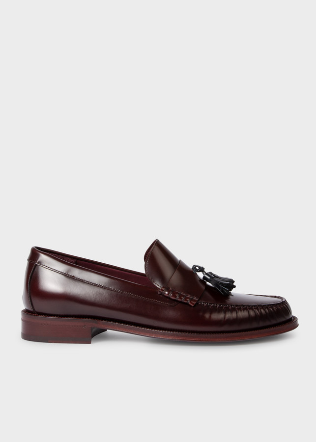 Paul Smith Men's Dark Burgundy 'Lewin' Tasseled Loafers