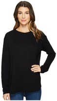Heather Cotton Gauze Back Long Sleeve Top Women's Clothing
