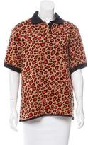 Christopher Kane Leopard Print Short Sleeve Top