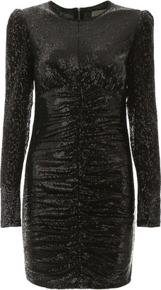MICHAEL Michael Kors DRAPED SEQUINS DRESS 4 Black