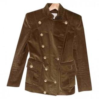 Pierre Balmain Camel Velvet Jacket for Women