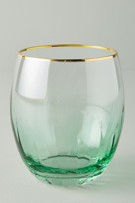 Anthropologie Vita Stemless Wine Glasses, Set of 4 By in Green Size S/4 wine glass