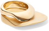 Charlotte Chesnais Set Of Two Gold-dipped Rings - 55
