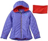 Pacific Trail Girls 7-16 Solid Puffer Jacket & Neck Warmer Set