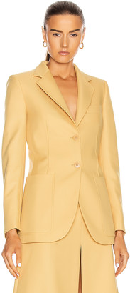 Stella McCartney Amanda Tailored Jacket in Camomille | FWRD