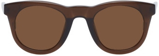 Dries Van Noten Brown Linda Farrow Edition Oval Sunglasses