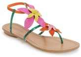 Pelle Moda Women's Ellis Strappy Flowered Sandal