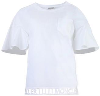 Moncler White Cut-out Logo T-shirt