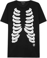 Alexander Mcqueen Black Ribcage-print Cotton T-shirt