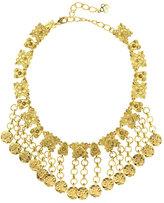 Oscar de la Renta Hammered Coin Charm Necklace