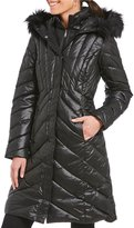 Preston & York Faux Fur Trim Hood Down Puffer Coat