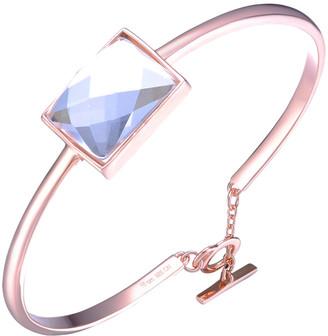Genevive 14K Rose Plated Silver Toggle Bracelet