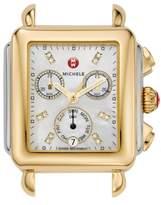 Michele Deco Diamond Dial Two-Tone Watch Head, 33mm x 35mm