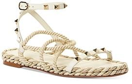 Valentino Women's Rockstud Strappy Espadrille Sandals
