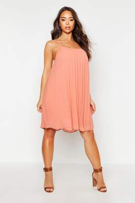 boohoo Chiffon Pleated Swing Dress