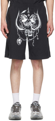 Vetements Black Motorhead Edition Big Skull Shorts