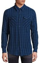 Nudie Jeans Gunnar Rope Twill Check Organic Cotton Shirt