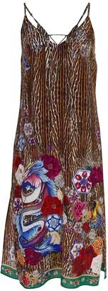 Camilla Jewl of Jupiter Lace Up Midi Dress