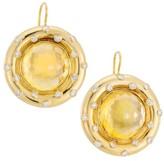 Renee Lewis 18K Yellow Gold, Citrine & Diamond Drop Earrings
