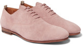 Officine Creative - Cap-toe Suede Derby Shoes
