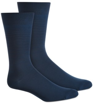Perry Ellis Men's Textured Stripes Socks