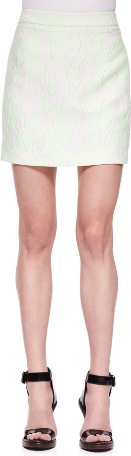 3.1 Phillip Lim Abstract-Print Mini Skirt