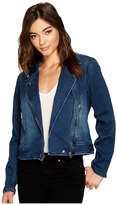Blank NYC Jersey Blue Moto Jacket in Hello Moto Women's Coat