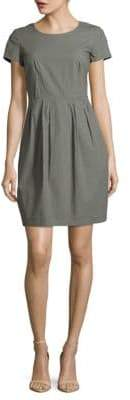 Lafayette 148 New York Cotton-Blend Solid Dress