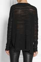 Helmut Lang Burnout-effect knitted sweater