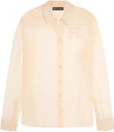 Rochas Appliquéd silk-organza shirt