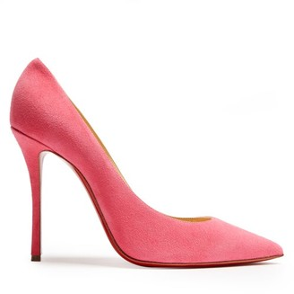 Christian Louboutin Decoltish 115 Suede Pumps - Womens - Pink