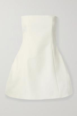 KHAITE Ginger Strapless Faille Mini Dress - White